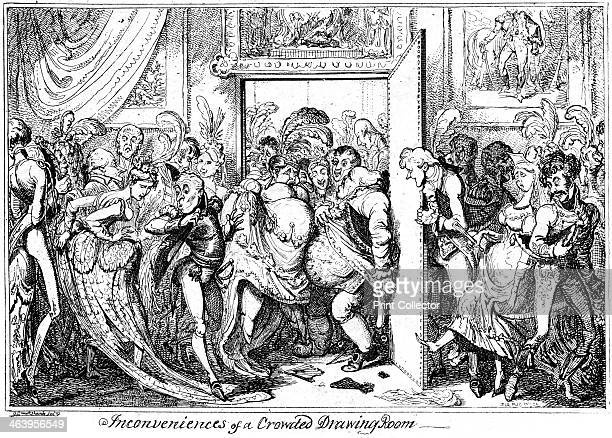 'Inconvenience of a Crowded Drawing Room' 1818