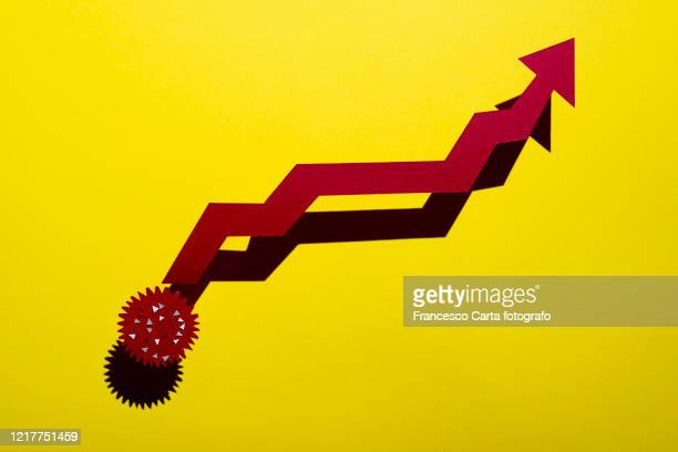 increase in the number of people infected - recovery stock pictures, royalty-free photos & images
