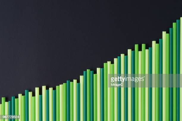 increasing green bar graph - improvement stock pictures, royalty-free photos & images