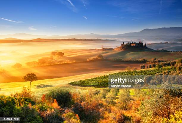 incredibile tuscany - beauté de la nature photos et images de collection