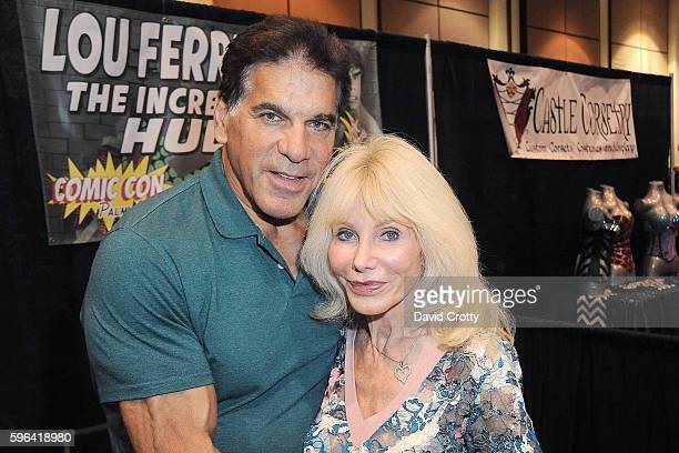 Incredible Hulk Actor Lou Ferrigno and wife Carla Ferringo attend Comic Con Palm Springs 2016 at Palm Springs Convention Center on August 27 2016 in...