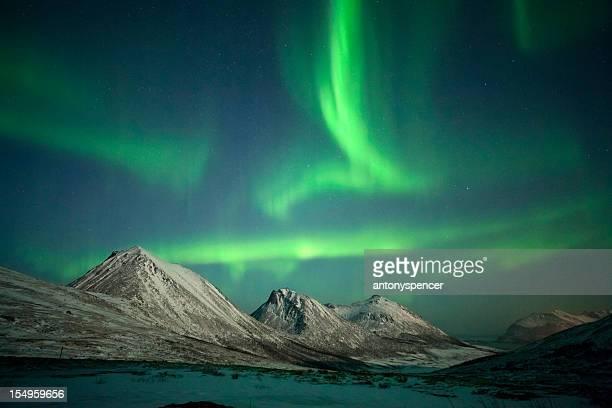 Incredible Strong Aurora Borealis, Tromsø, Arctic Norway.