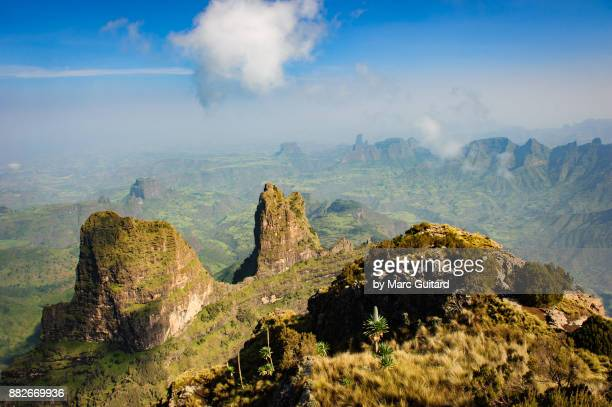 Incredibly rugged, mountainous terrain as viewed from Imet Gogo (3926m), Simien Mountains National Park, Ethiopia