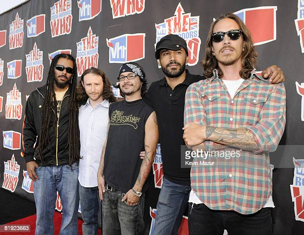 Incubus arrives at the 2008 VH1 Rock Honors honoring The Who at UCLA's Pauley Pavilion on July 12 2008 in Los Angeles California