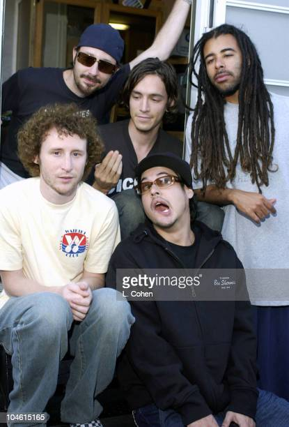 Incubus backstage at the show during 10th Annual KROQ Weenie Roast at Verizon Amphitheater in Irvine California United States