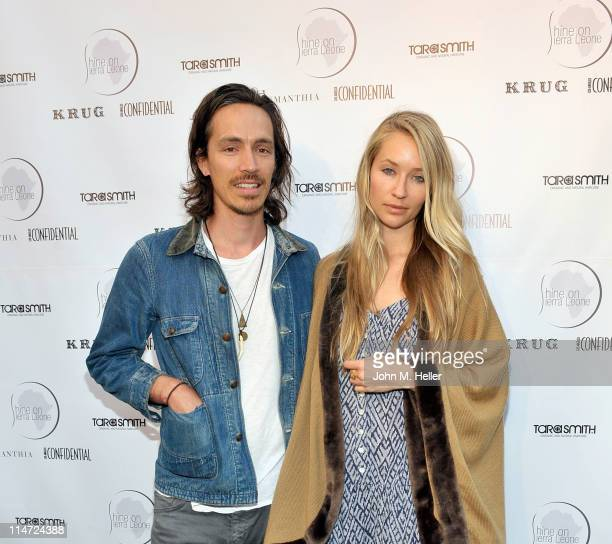 Incubus vocalist Brandon Boyd and actress Baelyn Neff attend the 5th annual fundraiser for Shine On Sierra Leone at a private residence on May 25...