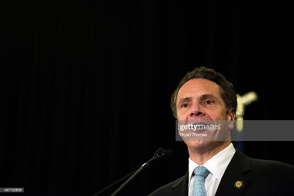 Incumbent New York Governor Andrew Cuomo speaks during a 'Women for Cuomo' campaign event on October 23, 2014 at the Grand Hyatt Hotel in New York, NY. Cuomo was joined by Former U.S. Secretary of State and U.S. Sen. Hillary Rodham Clinton who, citing his record on women's rights, endorsed him in the upcoming gubernatorial election on November 4, 2014. U.S. Rep. Kathy Hochul, the Democratic nominee for New York Lt. Gov., also spoke at the event.