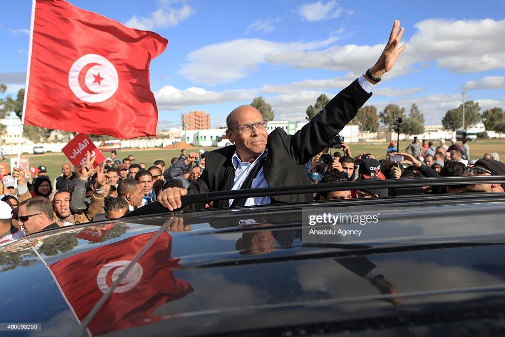 Moncef Marzouki election campaign in Sidi Bouzid, Tunisia : News Photo