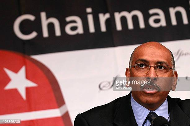 Incumbent Republican National Committee Chairman Michael Steele participates in a debate between chairmanship candidates of the RNC, co-sponsored by...