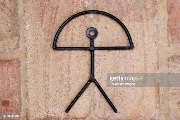 Indalo Prehistoric magical symbol of man holding rainbow adapted as official icon of Mojacar Almeria Province Spain