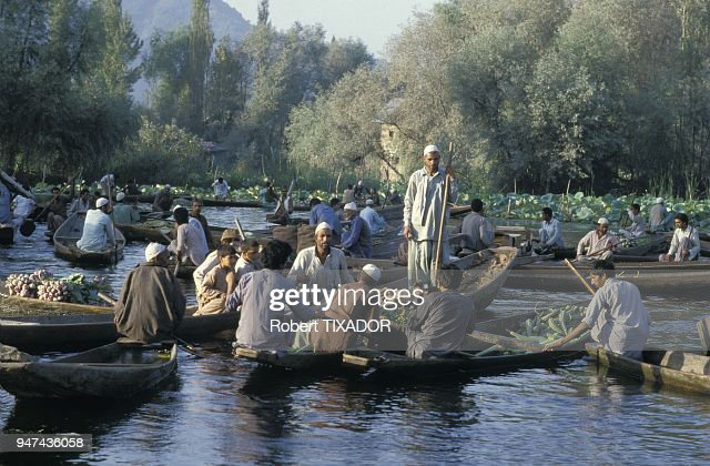 new arrival 37f47 f25e4 Cachemire, le lac Dal et son marché flottant. News Photo ...