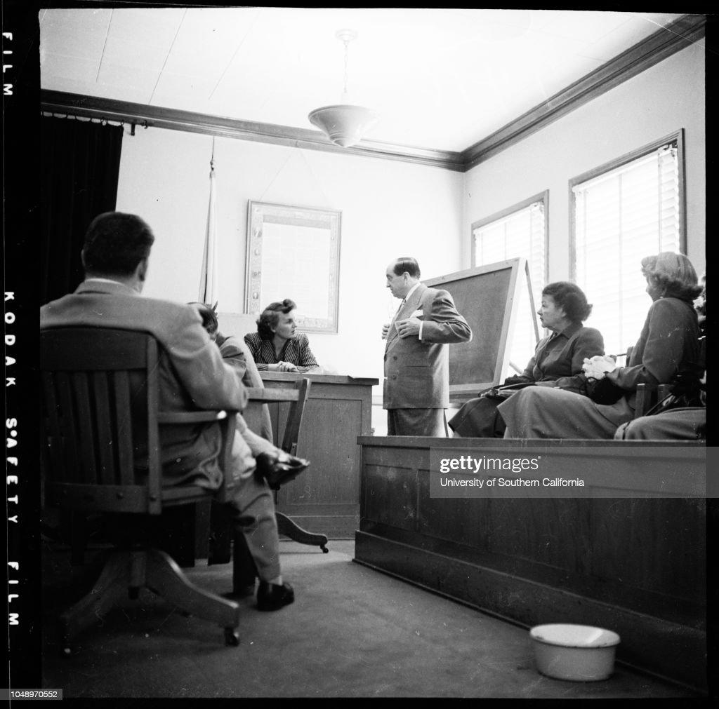 Indecent exposure case, 1951 : News Photo