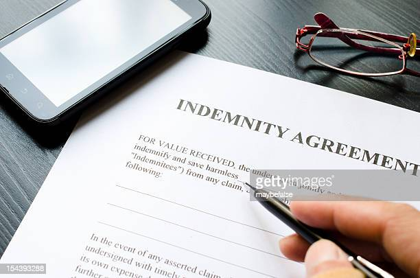 indemnity agreement - damages compensation stock pictures, royalty-free photos & images