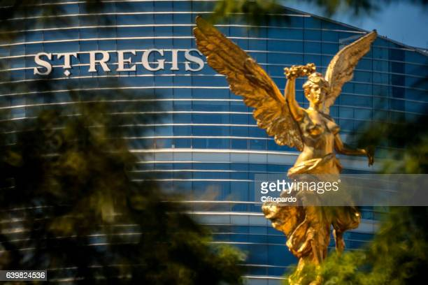 Independence Angel in Mexico City and St Regis hotel