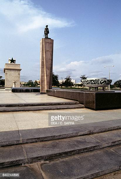 Independence Arch and the statue of the Unknown Soldier Accra Ghana 20th century