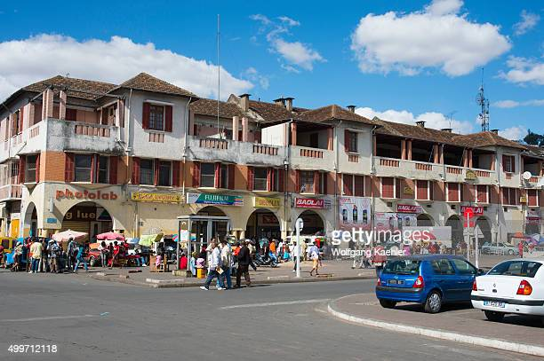Independence Avenue in the center of Antananarivo the capital city of Madagascar