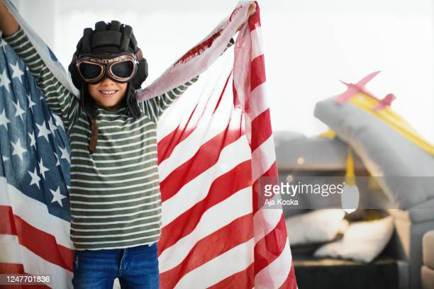 independence day at home. - aviator's cap stock pictures, royalty-free photos & images