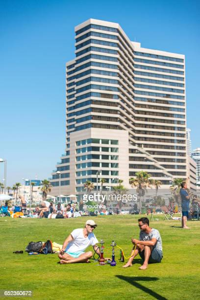 independence day celebration in tel aviv, israel - israel independence day stock pictures, royalty-free photos & images
