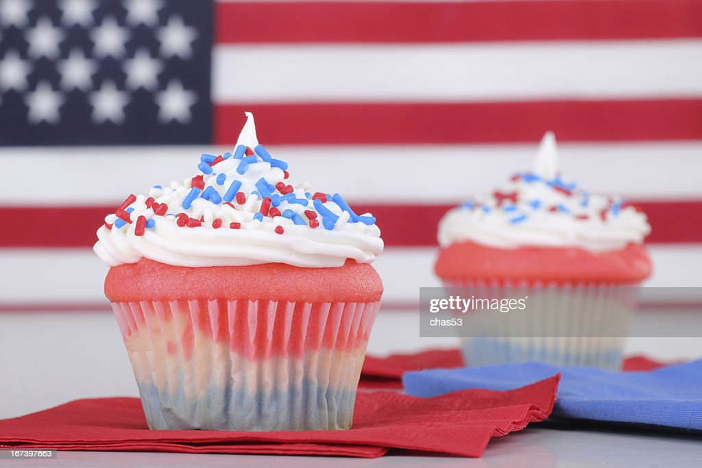 Independence Day Cupcakes : Stock-Foto