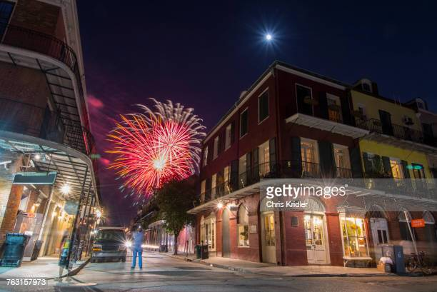 Independence Day fireworks display, New Orleans, USA