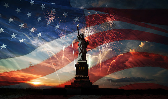Independence day. Liberty enlightening the world 522581465