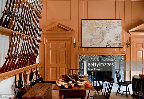 independence hall armory room - armory stock pictures, royalty-free photos & images