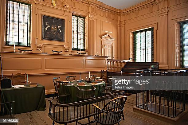 independence hall court room - courtroom stock pictures, royalty-free photos & images