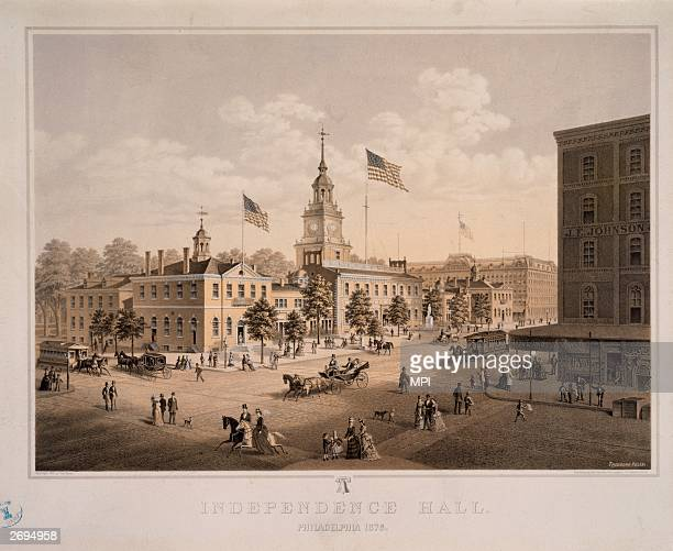 Independence Hall in Philadelphia Pennsylvania where the United States Constitution was written the Declaration of Independence was first read and...