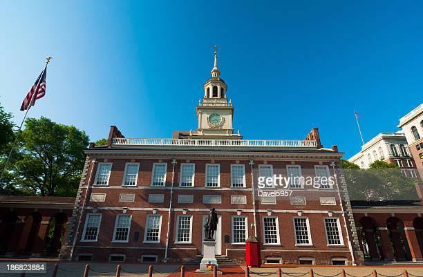 Independence Hall, north view, looking up