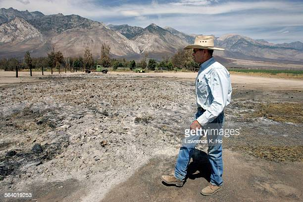 Independence, Inyo County Seat was declared disaster area by Gov. Schwartzenegger after the brush fire that came close to the city border. Hay farmer...