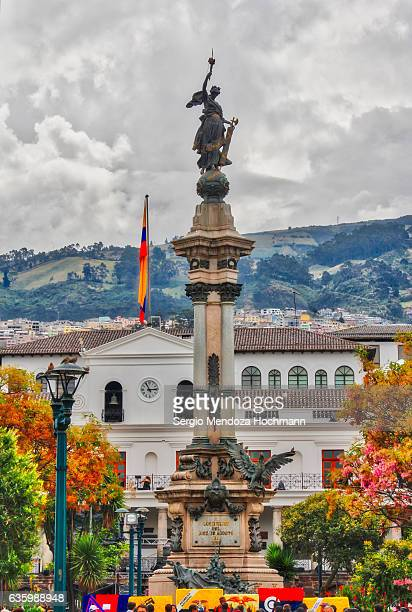 Independence Monument in Independence Square in downtown Quito, Ecuador