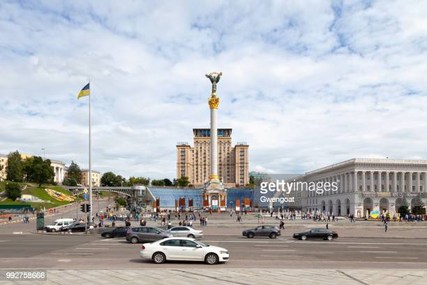independence monument in kiev - gwengoat foto e immagini stock