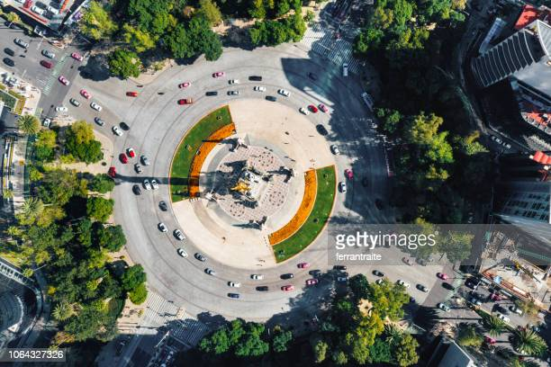 independence monument mexico city - mexico city aerial stock pictures, royalty-free photos & images