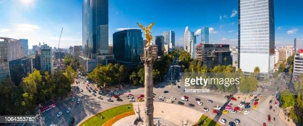independence monument mexico city - mexico city stock pictures, royalty-free photos & images