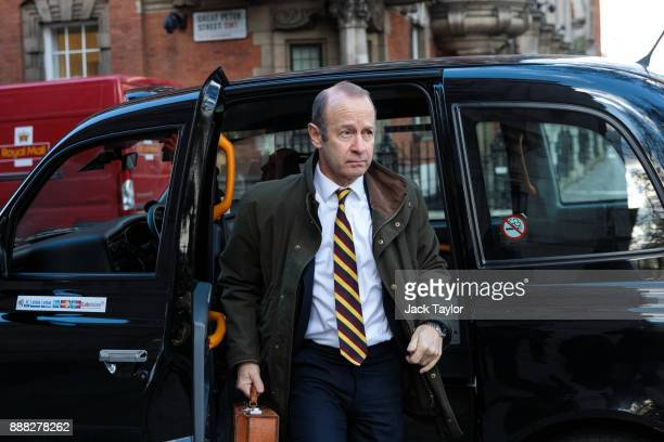 Independence Party leader Henry Bolton arrives at Millbank Studios on December 8 2017 in London England British Prime Minister Theresa May has struck...
