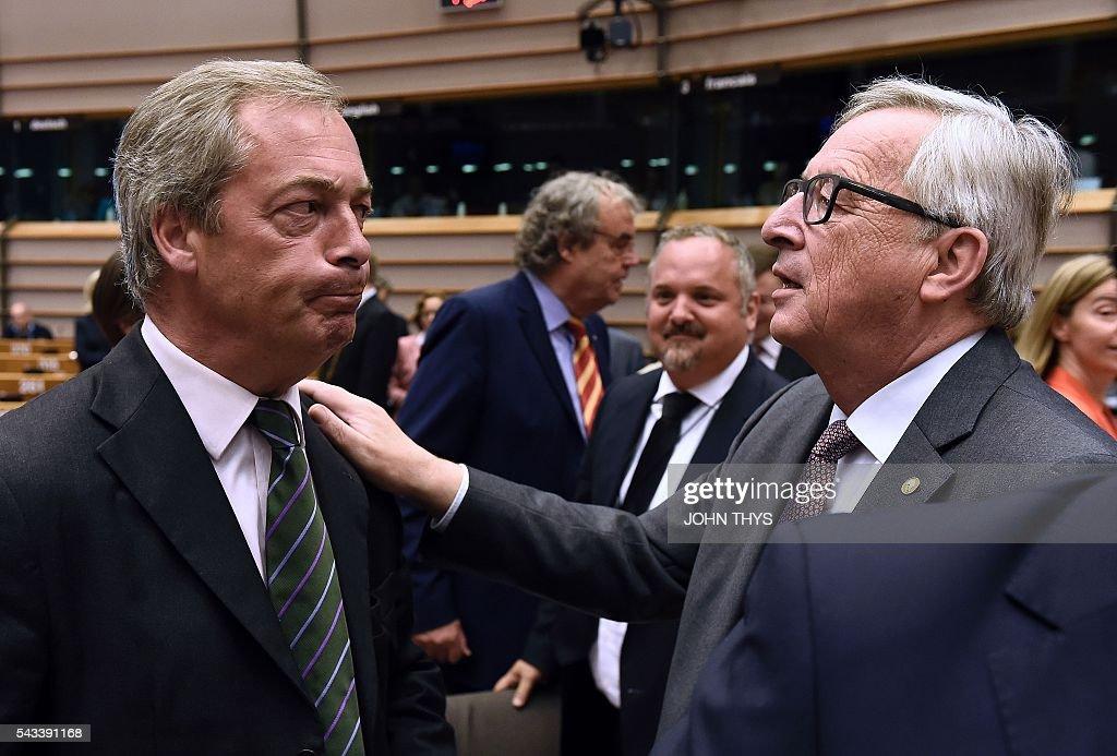 TOPSHOT-BELGIUM-EU-POLITICS-BREXIT : News Photo