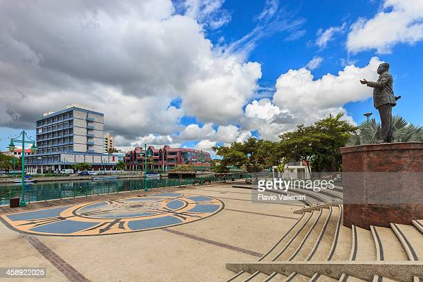 independence square, bridgetown, barbados - bridgetown barbados stock photos and pictures