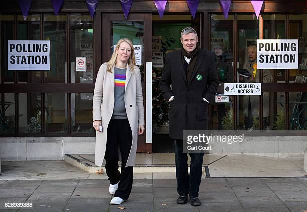 Independent candidate Zac Goldsmith and his wife Alice Rothschild leave after casting their votes in the Richmond Park byelection on December 1 2016...