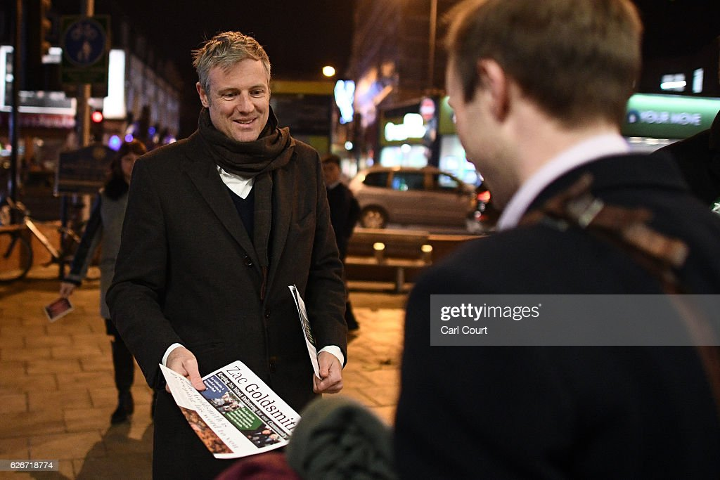 Independent Candidate Zac Goldsmith Canvasses Ahead Of The Richmond Park By-election : News Photo
