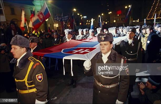 Independent celebration in Bratislava, Slovakia in 1993.