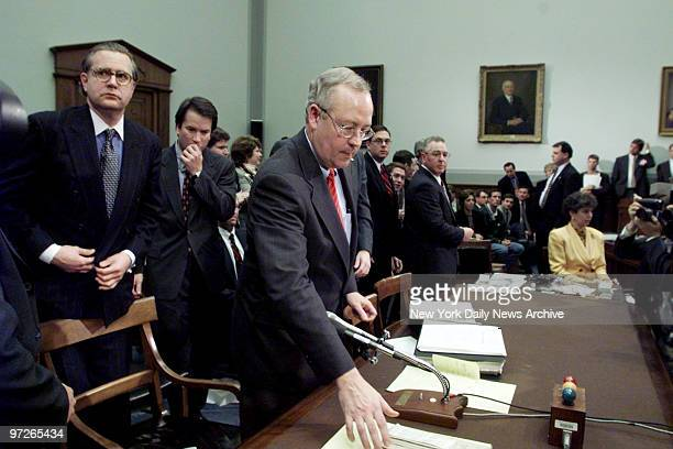 Independent counsel Kenneth Starr ends his testimony questioning independent counsel Kenneth Starr at the House Judiciary Committee hearings on...