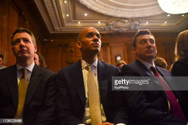 Independent Group member MPs Former Labour MPs Chris Leslie Gavin Shuker Chuka Umunna and Mike Gapes former Labour MPs Angela Smith Luciana Berger...