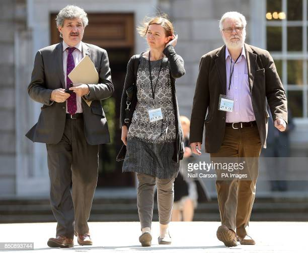 Independent TD John Halligan Tom Curran partner of terminally ill multiple sclerosis sufferer Marie Fleming and her daughter Corrinna Moore leave...