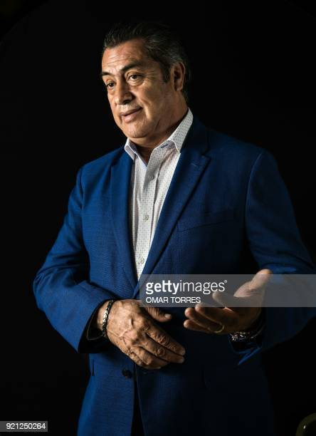 Independent presidential candidate Jaime Rodriguez Calderon 'The Bronco' poses for a photograph on February 19 2018 during a photo session in Mexico...