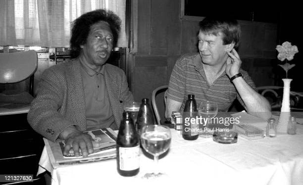 Independent record producer Bobby Robinson is interviewed by writer John Broven, on May 16, 1986 in Harlem, New york City, New York.