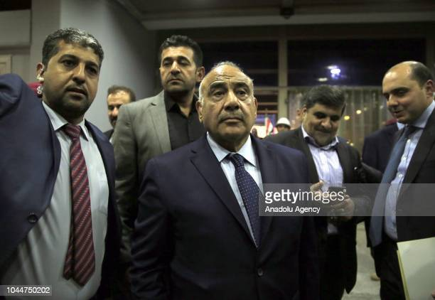Independent Shia candidate Adil AbdulMahdi is seen after newly elected president Barham Salih has given the task to form the government to Adil...