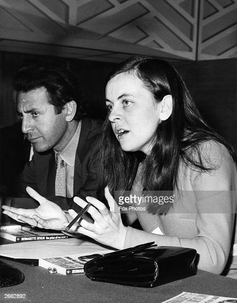 Independent Unity MP for MidUlster and youngest MP in Britain Bernadette Devlin at a press conference in London for the launch of her autobiography...