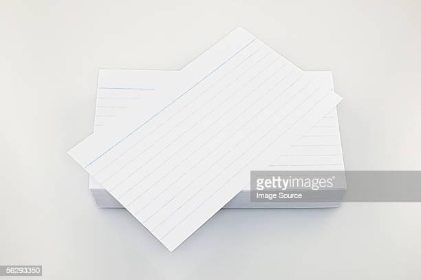 index cards - インデックスカード ストックフォトと画像