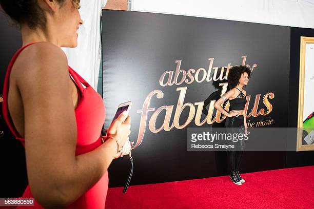 Indeyarna Donaldson Holness on the red carpet at the premiere of Absolutely Fabulous The Movie at SVA Theatre in New York NY on July 18 2016