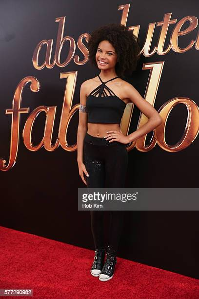 Indeyarna DonaldsonHolness attends the New York premiere of Absolutely Fabulous The Movie at SVA Theater on July 18 2016 in New York City